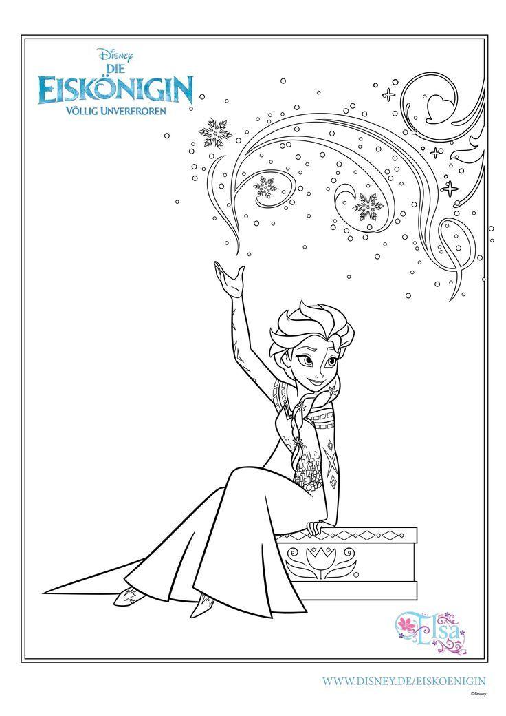 Ausmalbilder Eiskönigin Kindergarden Elsa Coloring Pages