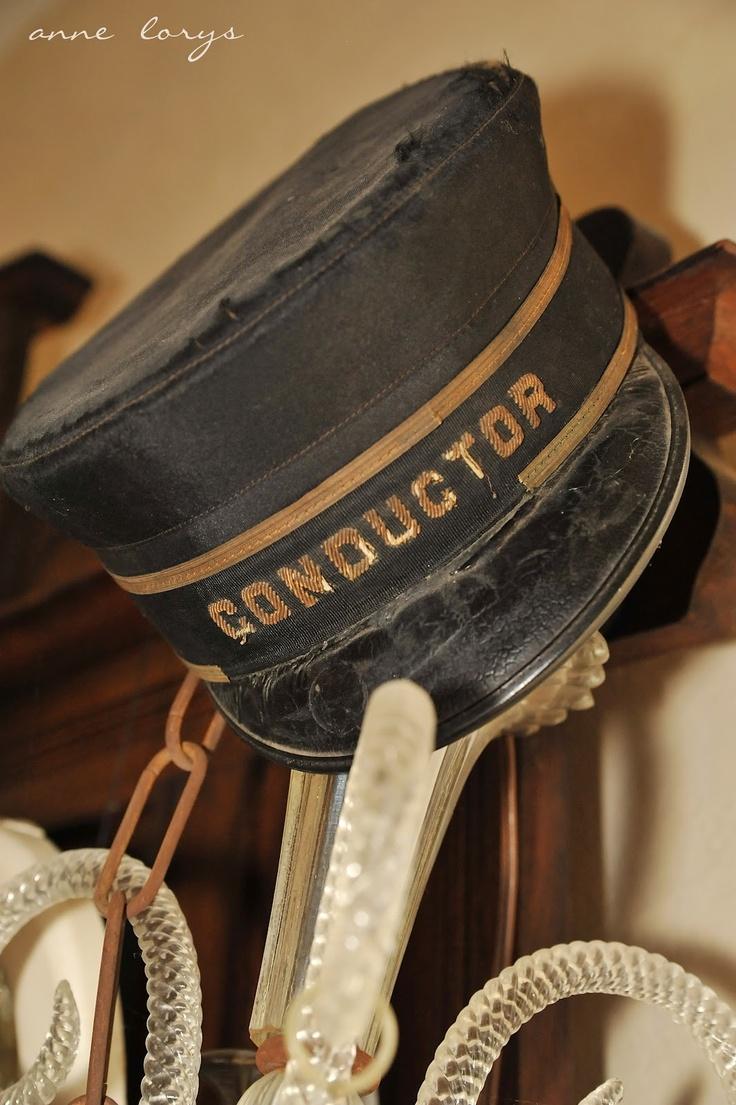 Vintage Railroad Conductors' Hat