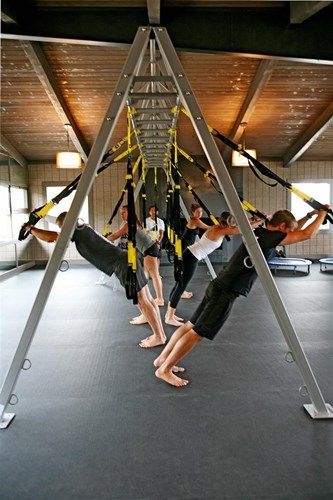 TRX Class in the Romper Room Gym at The Ranch at Live Oak in Malibu