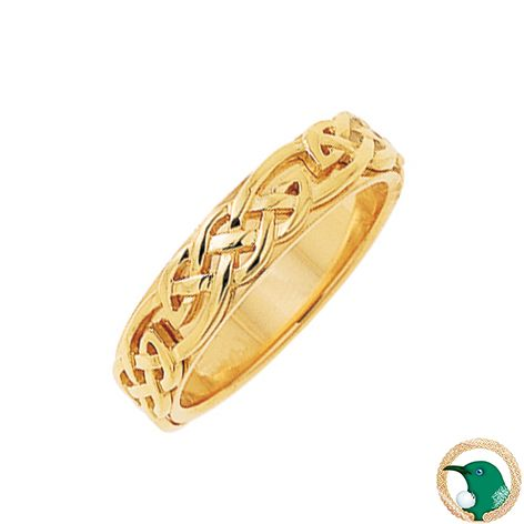 Infinity Celtic Ring Meaning: The continuous and boundless pattern portraying the eternal circles of life.