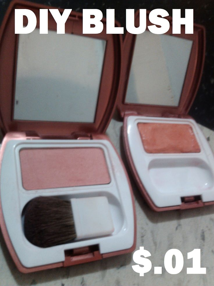 easy and ridiculously cheap way to make your own blush.