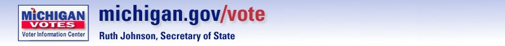Michigan Secretary of State, information in voter registration, local ballots, state-wide proposals and sample ballots