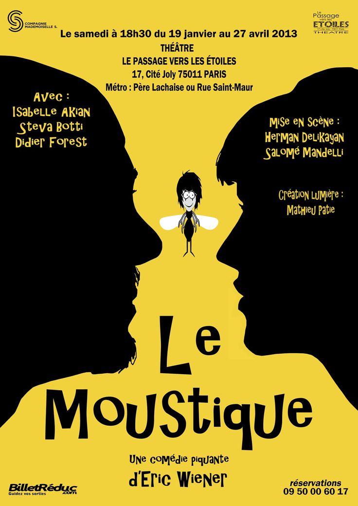 """Affiche théâtre """"Le Moustique"""""""