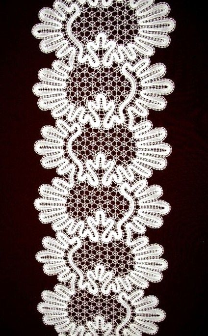 Russian bobbin lace from the city of Vologda