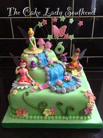 Tinkerbell cake - by TheCakeLadySouthend @ CakesDecor.com - cake decorating website