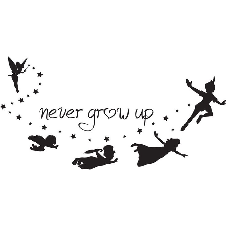 never grow up peter pan silhouette - Google Search