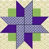 """Four-Patch...Skill Level INTERMEDIATE Finished Size 12"""" x 12"""" Download Instructions: Click here to download a .pdf with these block instructions. Click here for troubleshooting tips.) Please note: Correction to .pdf  Cutting Instructions:  Purple...Color #3 ...3A - Cut 4 rectangles 2½″ x 4½″"""