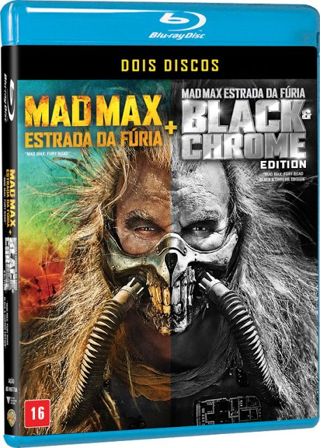 Bluray Mad Max Estrada da Fúria  Black & Chrome Edition - 2 Discos << R$ 1990 >>