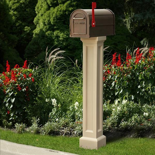 Mayne Post   Bradford Mailbox Post in Clay   Residential Mailbox