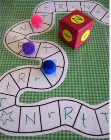 Juego para aprender a discriminar a las letras mayúsculas de las minúsculas