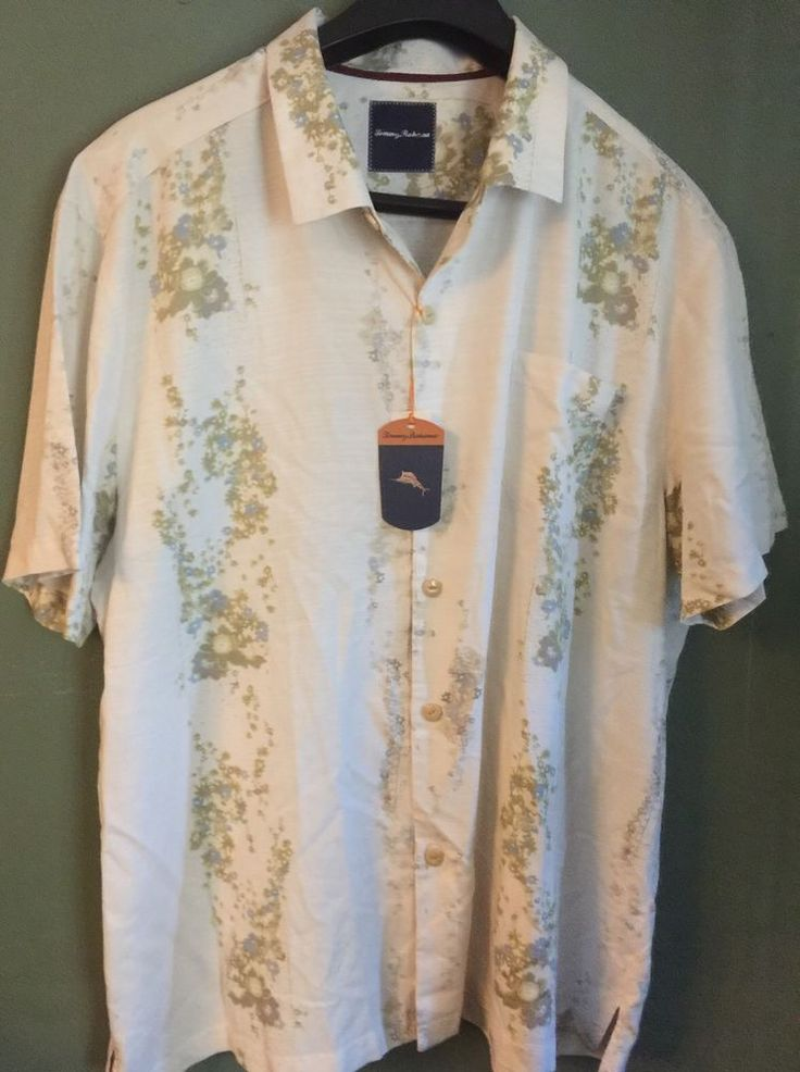 TOMMY BAHAMA CONTINENTAL STAR VALLEY SILK SHIRT - SIZE 3XL #TommyBahama #ButtonFront