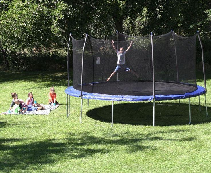 Large Outdoor 17 Foot Oval Big Kids Trampoline Safety Enclosure Exercise Sports #Skywalker