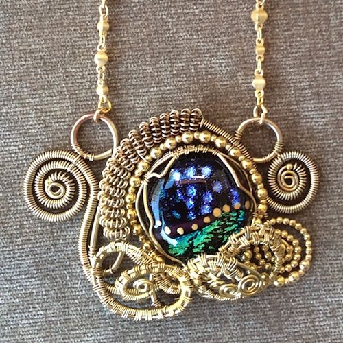 Painting with Glass and Wire by Diane Enger - featured on Jewelry Making Journal