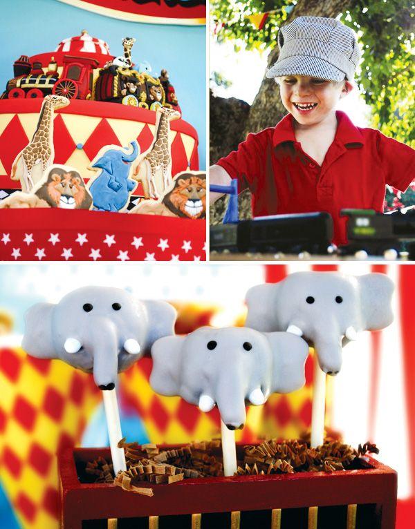 Magical Backyard Circus Train Party {Kids Birthday}