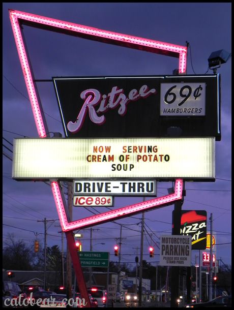 Ritzee Hamburgers - Battle Creek Michigan. thank god we have this lol