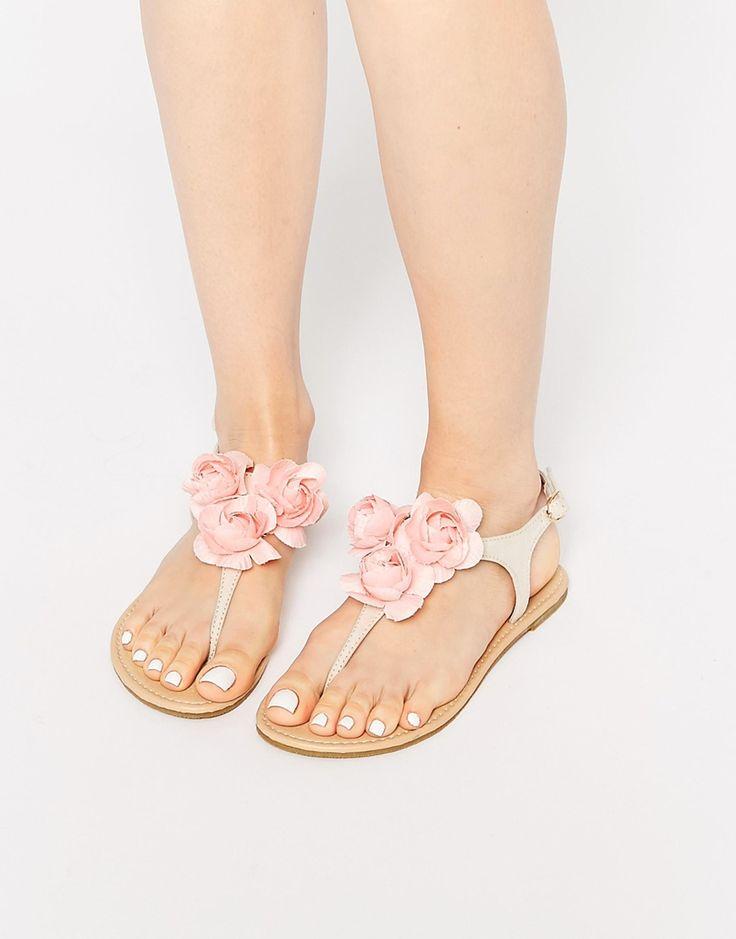 Image 1 ofASOS FRANCESCA Floral Corsage Sandals