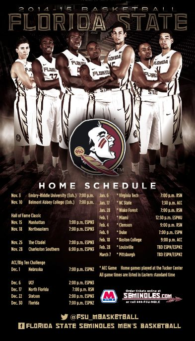Going to my very first FSU basketball game and basically my very first basketball game all together, we shall see on 17 January 15.  Florida State Men's Basketball Magnet (2014-2015)