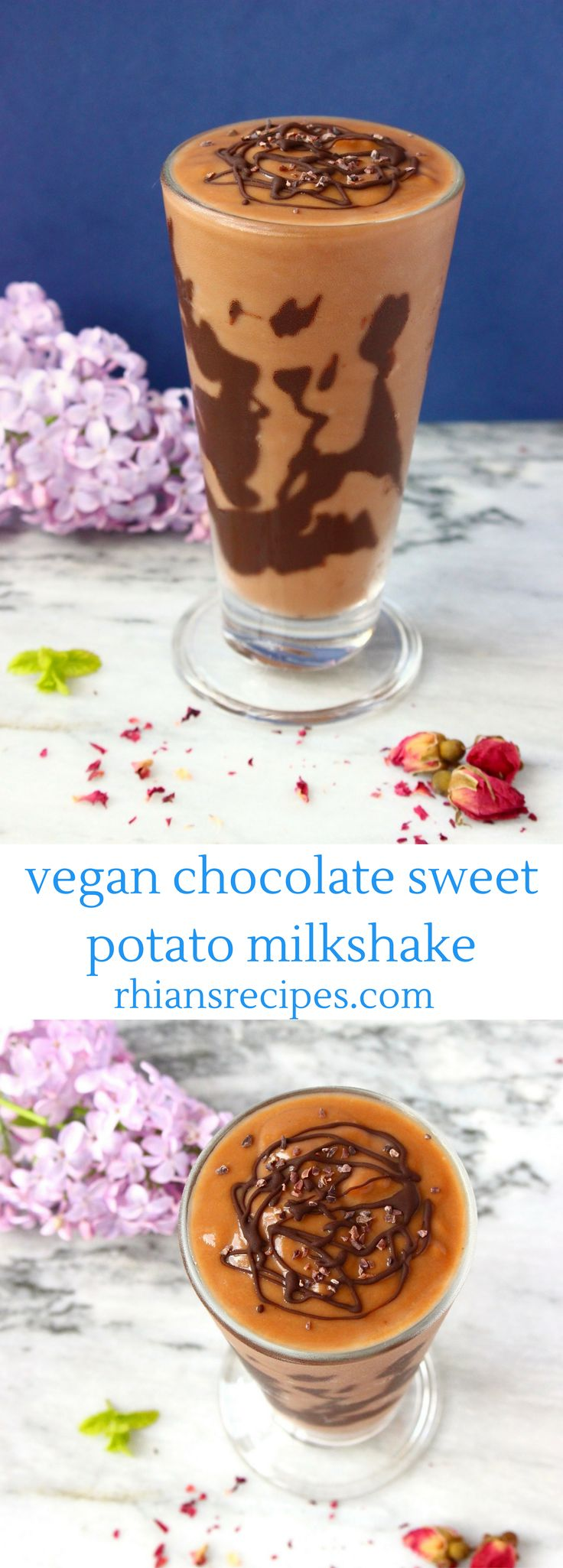 Chocolate Sweet Potato Milkshake – vegan, gluten-free and refined sugar free. 3 …