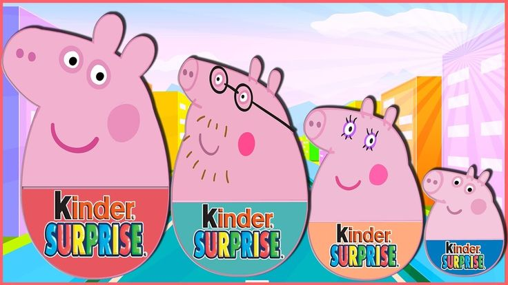 Peppa Pig English Episodes - LEARN COLORS with PEPPA PIG Surprise EGGS F...