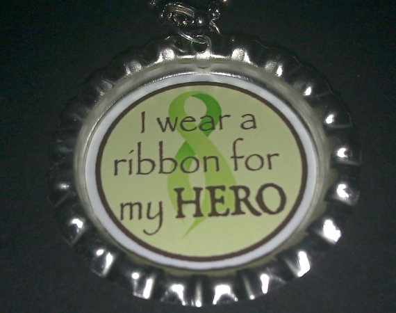 Lymphoma Cancer Awareness 24 inch Ball Chain Bottle by azmom1972, $3.50