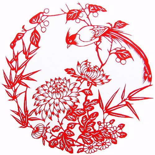Chinese PaperCut, Bird & Flower 720001259