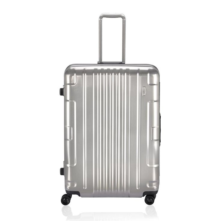 Kozmos (Interlock) 29 in. Metal Silver Hardside Spinner Suitcase