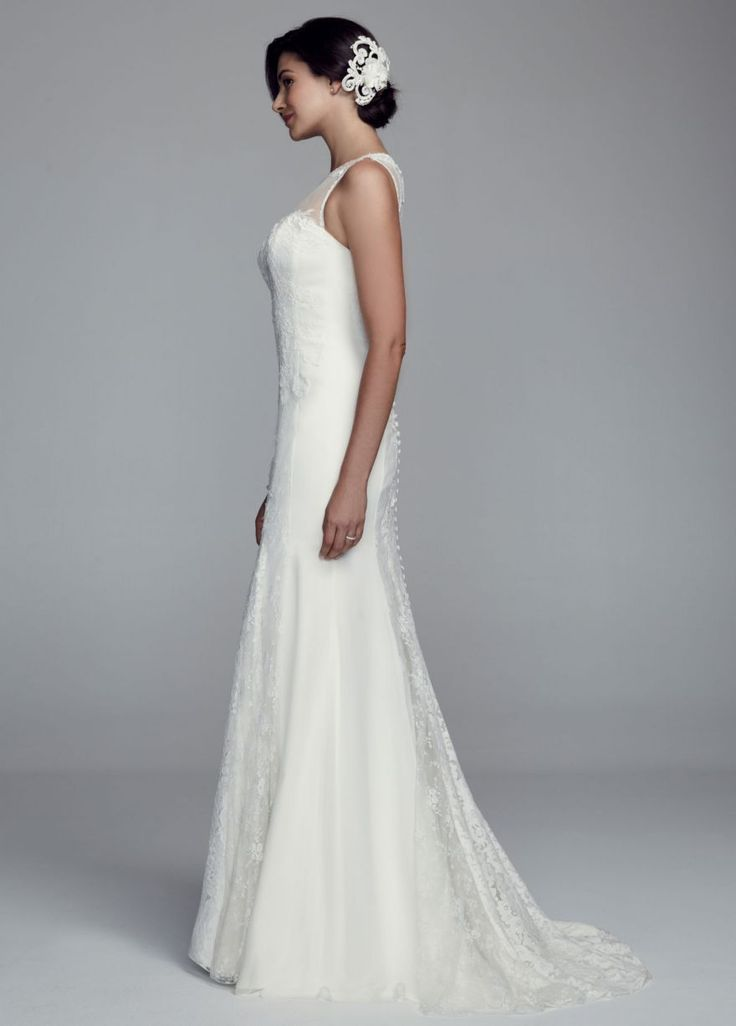 Lace Trumpet Gown with Illusion Neckline - David's Bridal