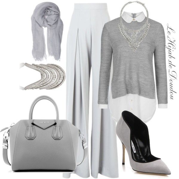 Hijab Outfit by le-hijab-de-doudou on Polyvore featuring polyvore, fashion, style, Topshop, AQ/AQ, Manolo Blahnik, Givenchy, Lynn Ban, Forever 21 and Faliero Sarti
