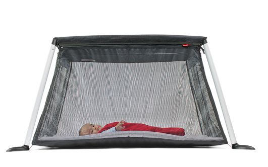 Phil & Teds traveller cot folds up to 25cm by 68cm 3.2kgs
