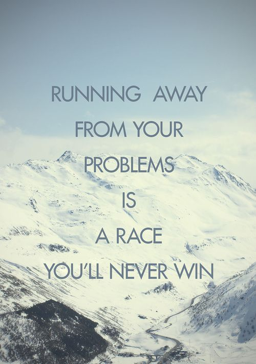 a race you'll never win...