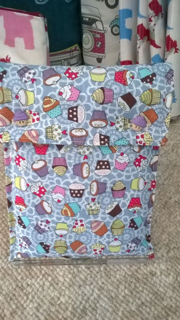 Padded cup cake fabric cover for a mini tablet