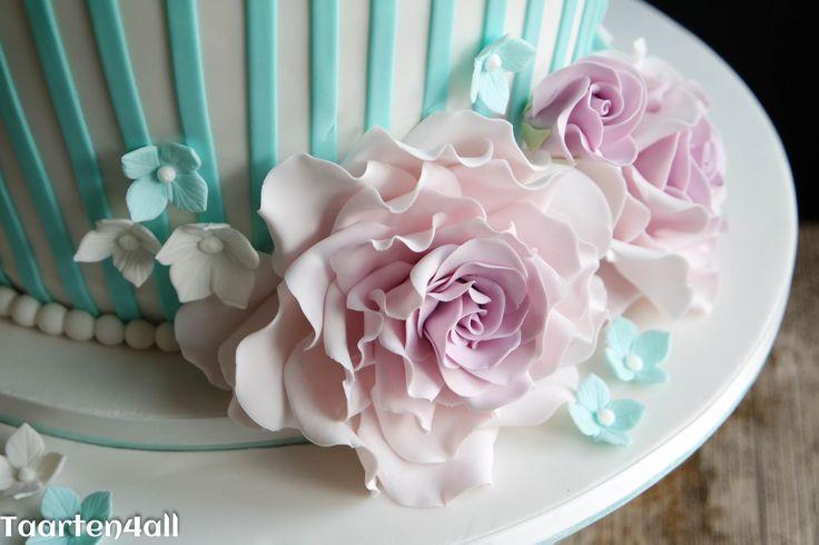 Roze roos van suiker