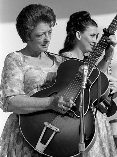 Mother Maybelle & Amita:  as the Carter Family performs during The Tennesseans Centenniai Park concert June 12, 1966