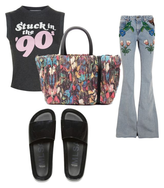 """""""Stuck in the """"90"""""""" by aleksaaryal on Polyvore featuring Melissa, Wildfox and Gucci"""