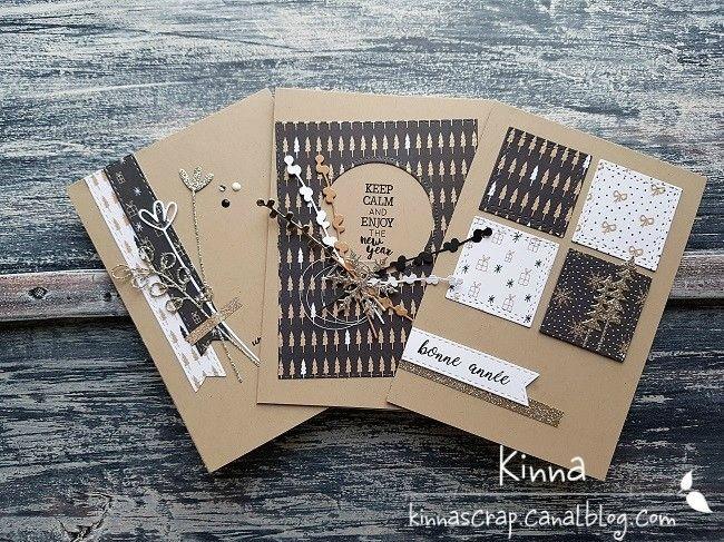 Un trio de cartes pour vous souhaiter une belle année – Les cartes de Kinna