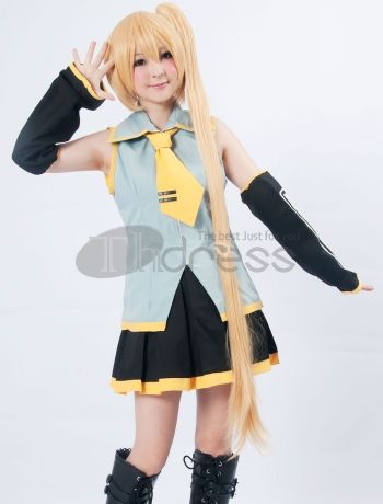 The package will include many parts, like jacket, shoes cover, belt, wrist bands, headwear, cape and pants. When you wear these, you can be the same as her. Our mission is to supply the Vocaloid Cosplay costumes and accessories at the lowest price but to your 100% satisfaction. Come on and buy it now! You will not regret!