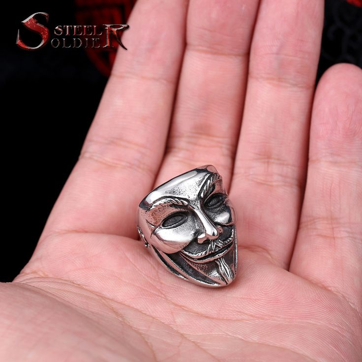 Steel soldier new design Guy Fawkes Mask film style ring stainless steel V for vendetta trendy men mask jewelry BR8 208-in Rings from Jewelry & Accessories on Aliexpress.com | Alibaba Group