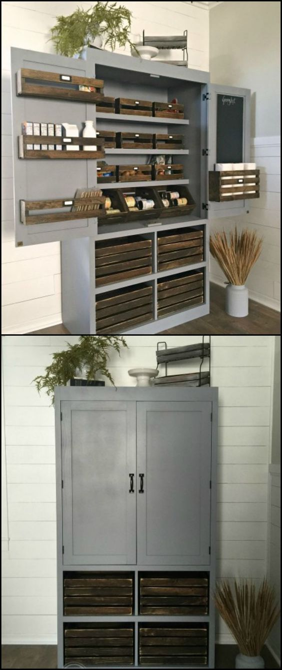 If You Need Just A Small Pantry For Your Small Kitchen Then Here 39 S A Diy Project For You As
