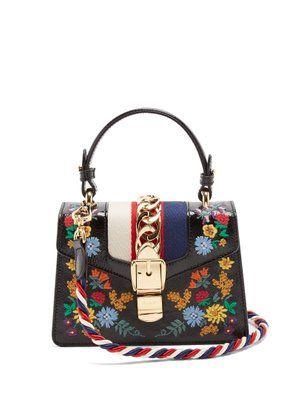 cfc6e2534 Gucci Sylvie mini floral-embroidered shoulder bag | Elegant Bags in ...