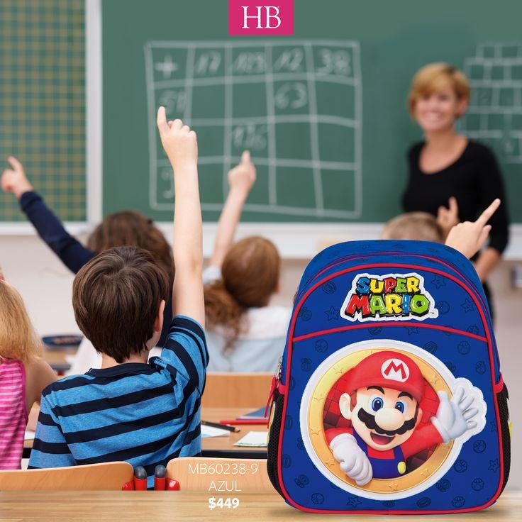 #FelizJueves la escuela nunca fue tan divertida como ahora con las mochilas de #SuperMario de #Chenson mod. MB60238-9 llama al 01 800 426 3224