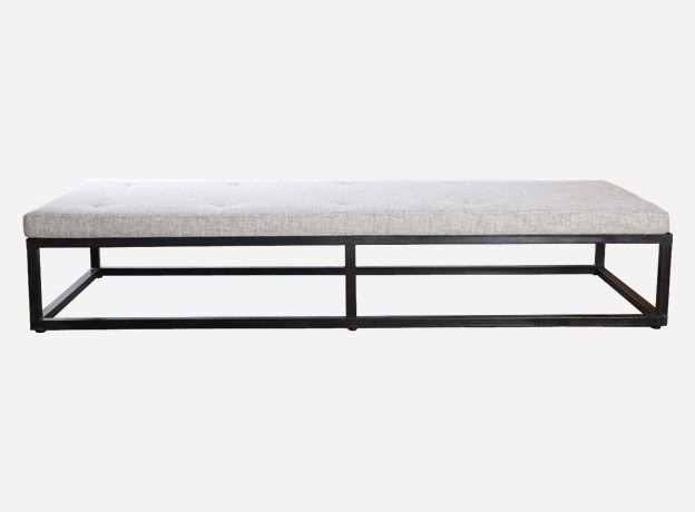 Br0163 - Daybed, Cube, black, h.: 30 cm, 75x200 cm, excl. mattress