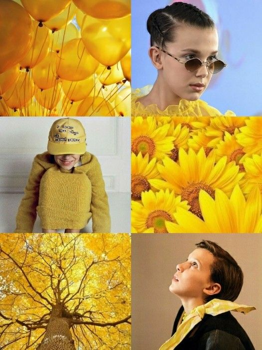 Millie Bobby Brown wallpaper yellow •Made by Zoomer S.W•