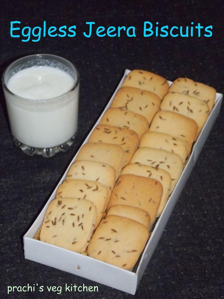 Prachi's veg kitchen: Eggless Jeera Biscuits/ cumin cookies