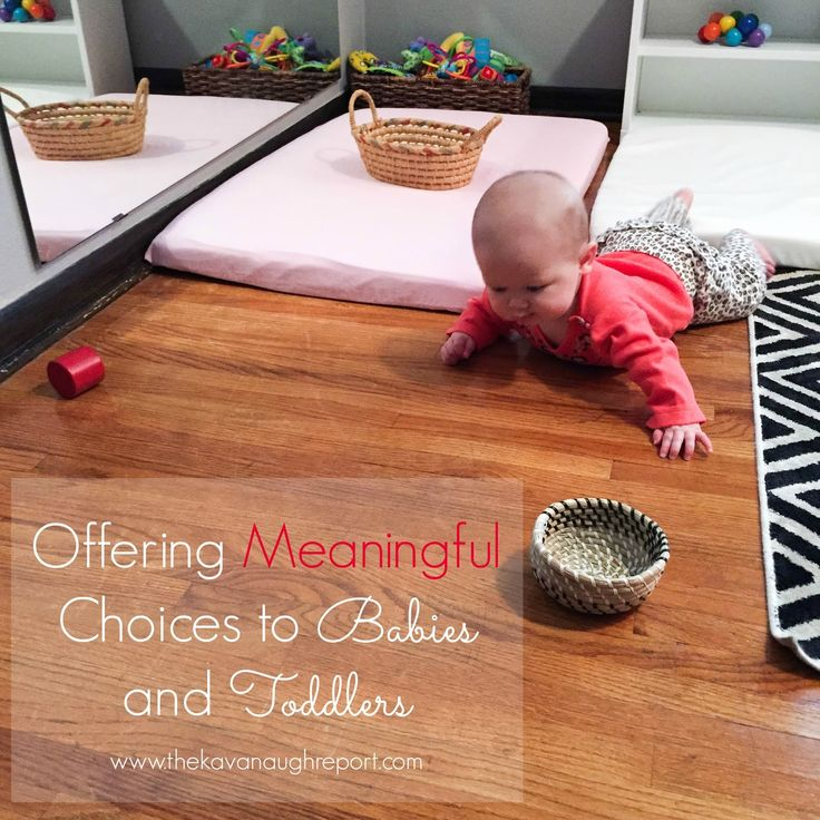 Offering meaningful choices to babies and toddlers -- how to use Montessori parenting choices to avoid tantrums and power struggles with young children.