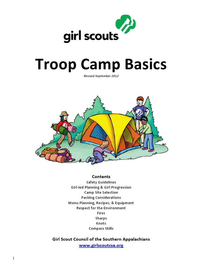 Troop-Camp-Basics-Manual3.pdf *This is NOT from our council so the contact information does not apply. Make sure you know the emergency numbers for the camp you are going to! Lots of good basic info.