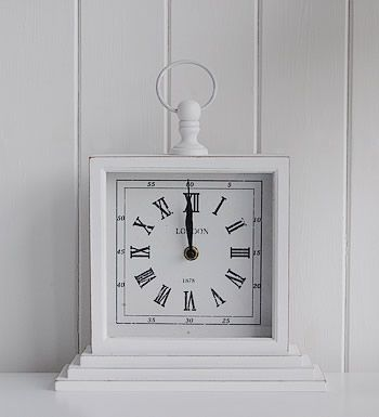 white bathroom clock | ... inspired l delivery l contact the white lighthouse white mantel clock