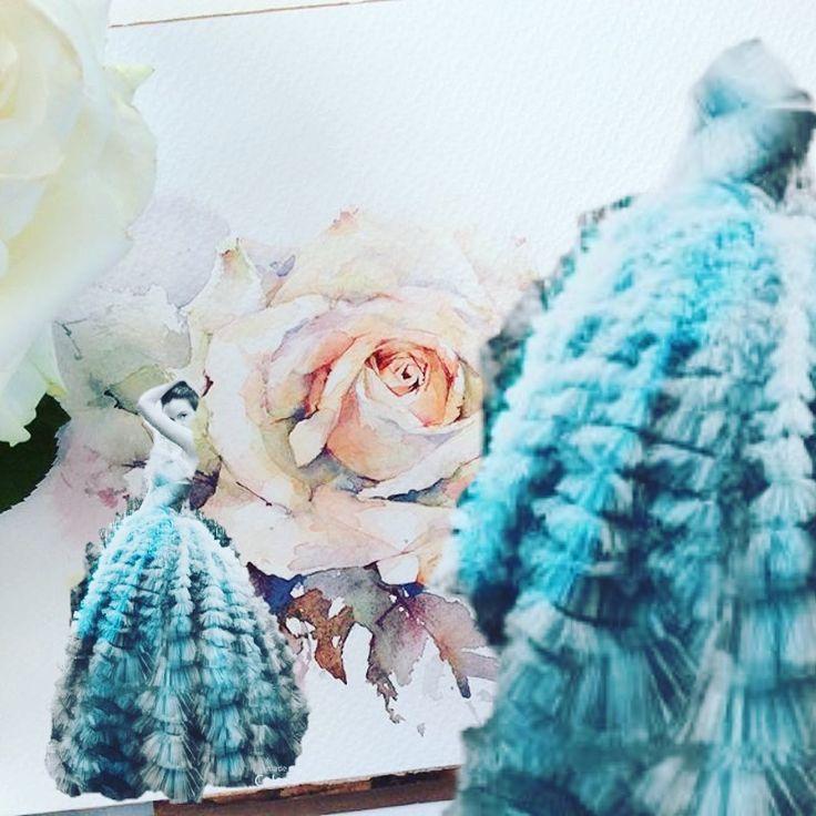 Fashion illustration,watercolor,Dior,diormagazine  Fashion,fashionillustrationdior,dior2017