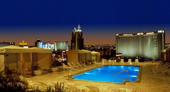 Make a splash at the rooftop pool, Polo Towers Villas condos, Las Vegas