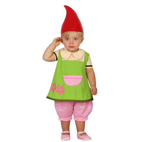 Kabouter jurkje voor peuters. Schattig kabouter pakje voor babies en peuters, inclusief jurkje, broekje en muts. Carnavalskleding 2015 #carnaval