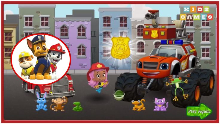 Nickelodeon Games to play online 2017 ♫ Paw Patrol Games - Firefighter Rescue ♫ Kids Games